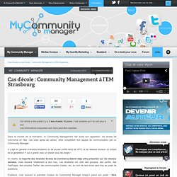 Le Community Management dans les Business Schools