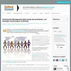 Community Management des écoles de commerce : un exemple à suivre pour la Culture