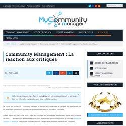 Community Management : La réaction aux critiques