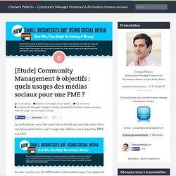 [Etude] Community Management & objectifs : quels usages des médias sociaux pour une PME ?