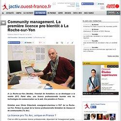 Community management. La première licence pro bientôt à La Roche-sur-Yon