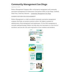 Community Management San Diego