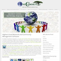 Highest Good Network and Community Project Management Software