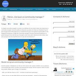 Qu'est ce qu'un vrai community manager ? E-Alchimie