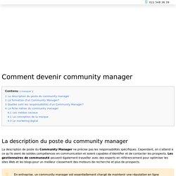 ▷ Community Manager: Découvrez tout sur ce métier