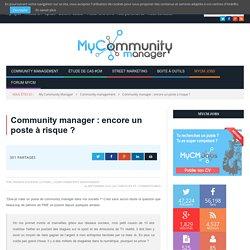 Community manager : encore un poste à risque