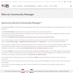 Fonction Community Manager