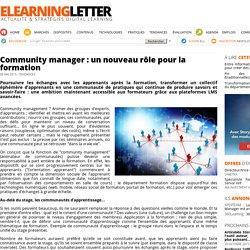 Community manager : un nouveau rôle pour la formation