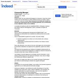 Emploi Community Manager - ROBOPLANET - Nantes (44)