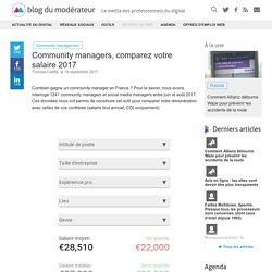 Community managers, comparez votre salaire 2017