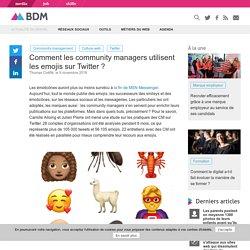 Comment les community managers utilisent les emojis sur Twitter ?