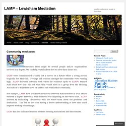 LAMP – Lewisham Mediation