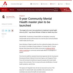 5-year Community Mental Health master plan to be launched