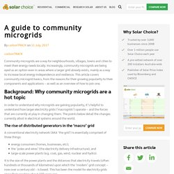 A guide to community microgrids - Solar Choice