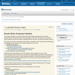 LabVIEW Emotiv Toolkit