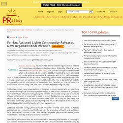 Fairfax Assisted Living Community Releases New Organizational Website