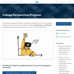 Community Colleges Perspectives Program