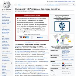 Community of Portuguese Language Countries - Wikipedia