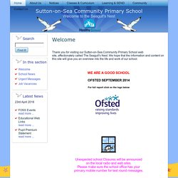 Sutton-on-Sea Primary School Home Page