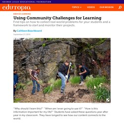 How to Use Community Projects in the Classroom