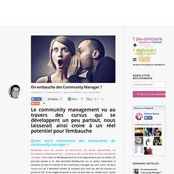 On embauche des Community Manager ? - ReflexeMedia