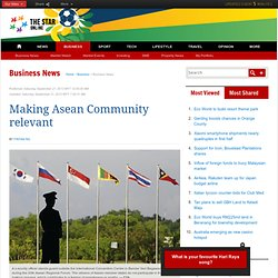 Making Asean Community relevant