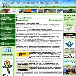 Community Renewable Energy Waterloo (CREW)