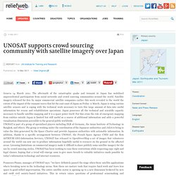 UNOSAT supports crowd sourcing community
