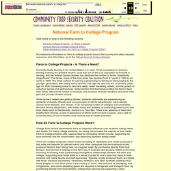 Community Food Security Coalition - Programs - Farm to College