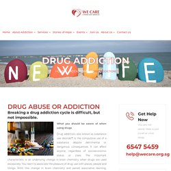 WE CARE Community Services : Drug Addictions