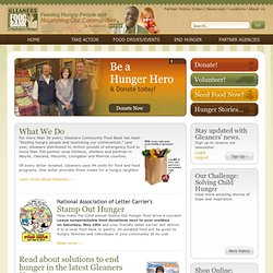 Gleaners Community Food Bank of Southeastern Michigan: Home