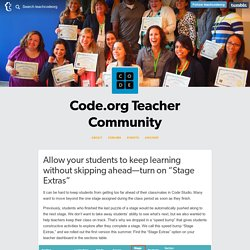 Teacher Community — Allow your students to keep learning without...