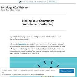 Making Your Community Website Self-Sustaining