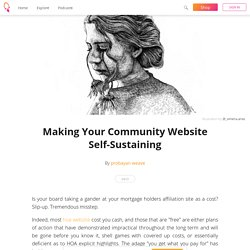 Making Your Community Website Self-Sustaining - probayan weave
