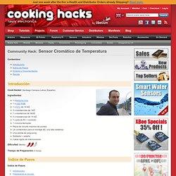 Cooking Hacks - Let's Cook - Community Hacks - Temperature Cromatic Sensor