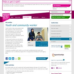 Youth and Community Worker Job Information
