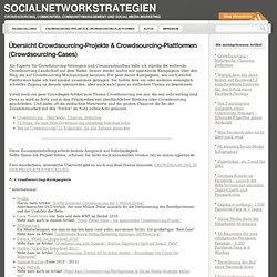 Übersicht Crowdsourcing-Projekte & Crowdsourcing-Plattformen (Crowdsourcing-Cases)