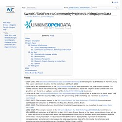SweoIG/TaskForces/CommunityProjects/LinkingOpenData - ESW Wiki
