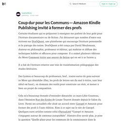 Coup dur pour les Communs — Amazon Kindle Publishing invité à former des profs