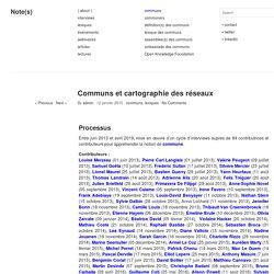 Communs et cartographie des réseaux