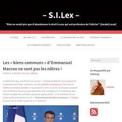 Les «biens communs» d'Emmanuel Macron ne sont pas les nôtres