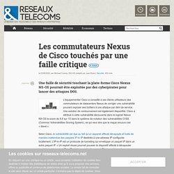 (TRANCHANT Jessy) Alerte sur une faille de sécurité affectant les switchs Cisco Nexus