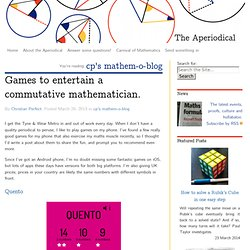 Games to entertain a commutative mathematician.
