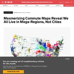 Commute Maps Reveal a US Divided by Megaregions