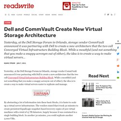 Dell and CommVault Create New Virtual Storage Architecture - ReadWrite