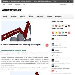 Como Aumentar o seu Ranking no Google