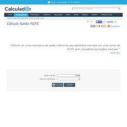 o Calcular Saldo FGTS - Calculador.com.br
