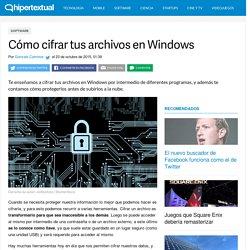 Cómo cifrar archivos en Windows