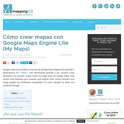 Crear mapas con Google Maps Engine Lite