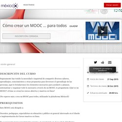Cómo crear un MOOC ... para todos